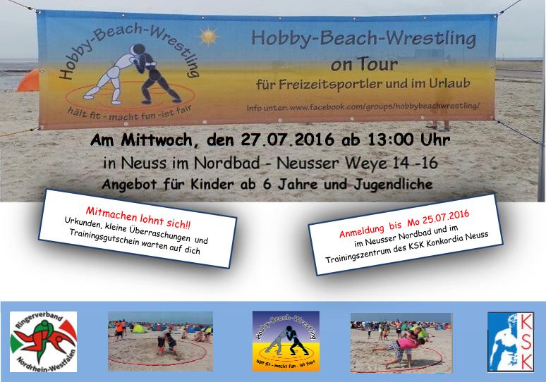 Flyer Beach Wrestling